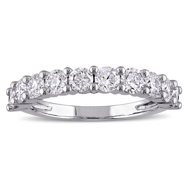 Miadora Signature Collection 14k Gold 1 1/2ct TDW Diamond Semi-Eternity Ring (G-H, I1-I2)