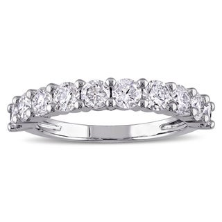 Miadora Signature Collection 14k Gold 1 1/2ct TDW Diamond Semi-Eternity Ring