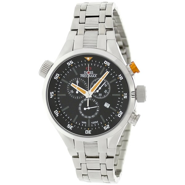 Swiss Precimax Men's Torin Pro Orange Hands Swiss Chronograph Watch