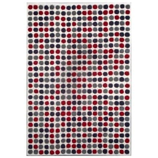 Safavieh Handmade Dots Ivory New Zealand Wool Rug