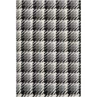 Hand-woven Hutt Grey Wool Area Rug - 8' x 11'