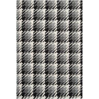 Hand-woven Hutt Grey Wool Rug (8' x 11')