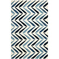 Safavieh Handmade Soho Ivory/ Blue New Zealand Wool Rug