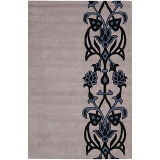 Safavieh Handmade Soho Tribal Dark Beige New Zealand Wool Rug