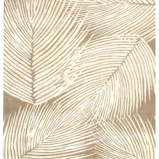 Safavieh Handmade Ferns Beige New Zealand Wool Rug