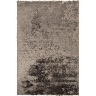 Hand-woven Timaru Taupe Soft Plush Shag (8' x 11')