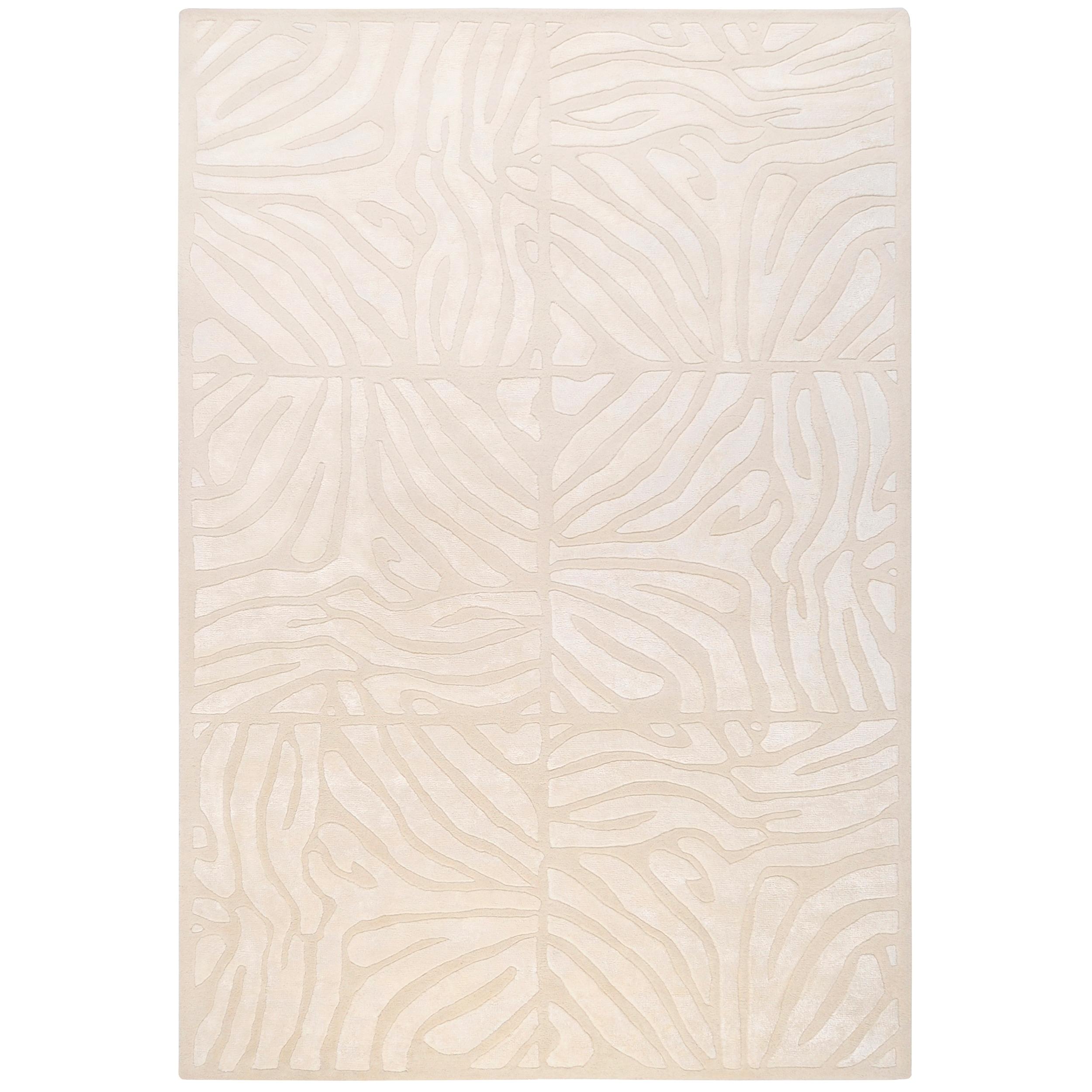 Global Furniture Usa Hand-tufted Zebra Animal Print Birke...