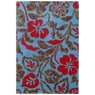 Safavieh Handmade Bontancial Blue New Zealand Wool Rug