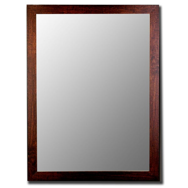 Shop Distressed Walnut Mirror - On Sale - Free Shipping Today ...