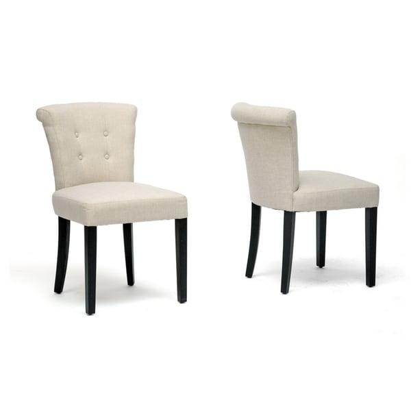 Baxton Studio 'Philippa' Beige Linen Dining Chairs (Set of 2)