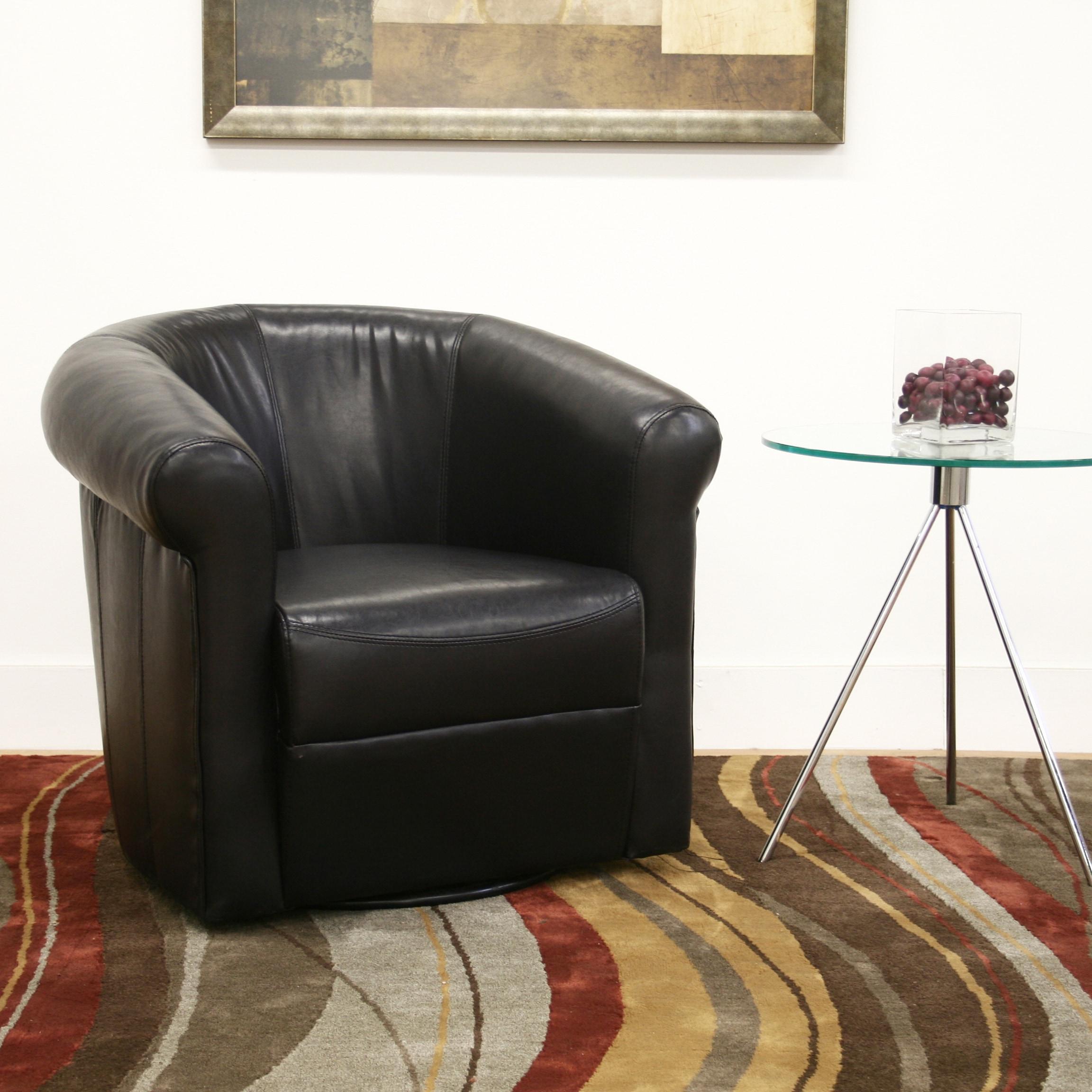 Baxton Studio 'Julian' Black Faux Leather Club Chair (Clu...