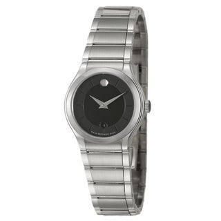 Movado Women's 0606493 'Quadro' Stainless Steel Swiss Quartz Watch