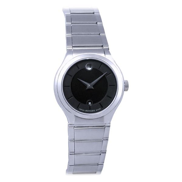 Movado Women's 'Quadro' Stainless Steel Swiss Quartz Watch