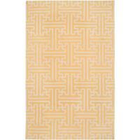 Hand-woven Treviso 2 Golden Wool Area Rug - 2' x 3'