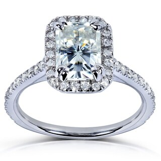 Annello by Kobelli 14k White Gold 1 1/2ct TGW Radiant Moissanite (HI) and Diamond Rectangular Halo Engagement Ring|https://ak1.ostkcdn.com/images/products/7618069/P15039164.jpg?_ostk_perf_=percv&impolicy=medium