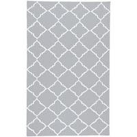 Hand-woven Altamura Dove Gray Wool Area Rug - 8' x 11'