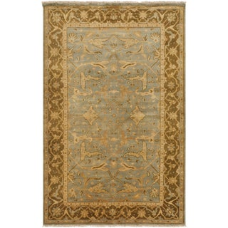 Hand-knotted Camel Malibu Wool Rug (3'9 x 5'9)