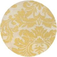 Hand-tufted Antique White Monaco Wool Area Rug - 4' x 4'