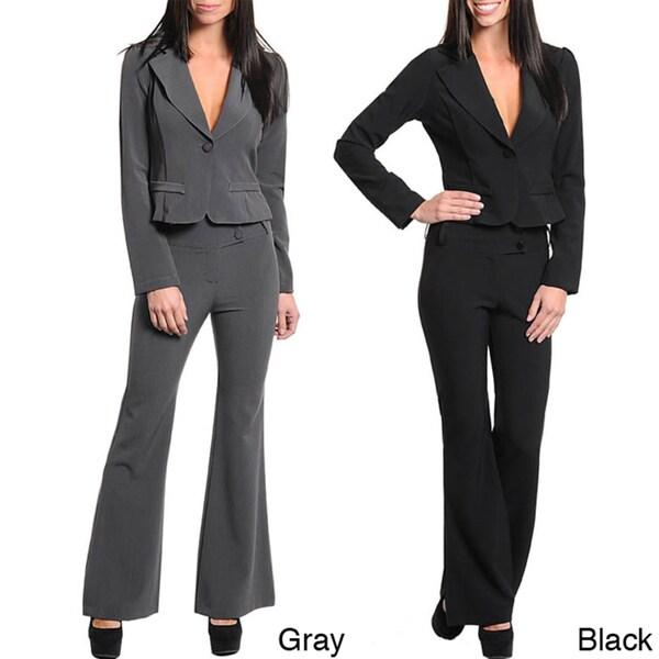 Stanzino Women's Slim Pant Suit
