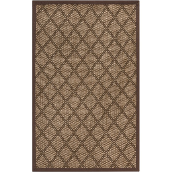 Meticulously Woven Golden Brown Maxima Sisal Natural Fiber Rug (9' x 13')