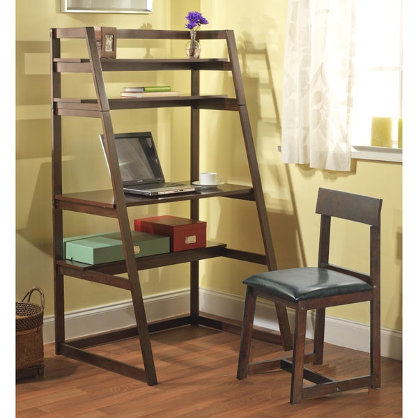 Simple Living Ladder Desk With Shelf Set Free Shipping