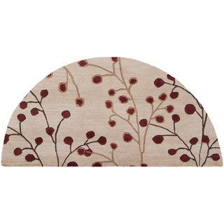 Hand-tufted Cream Millenia Wool Area Rug (2' x 4' Hearth)