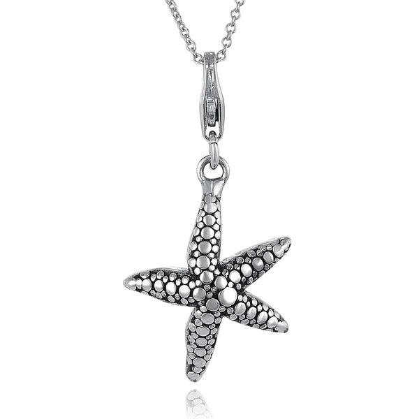 Journee Collection Sterling Silver Starfish Necklace