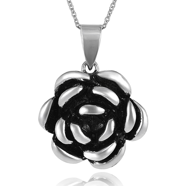 Journee Collection Sterling Silver Flower Necklace
