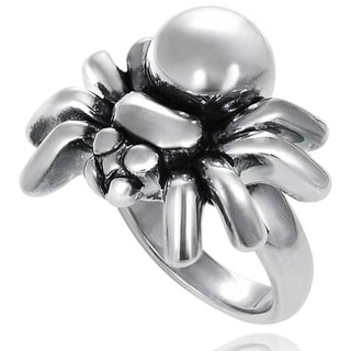 Journee Collection Sterling Silver Spider Ring