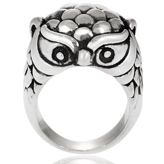 Journee Collection Sterling Silver Owl Ring