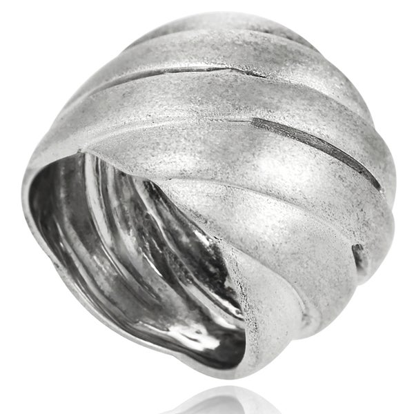Journee Collection Sterling Silver Wide Brushed Ring