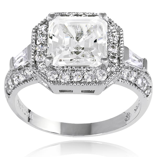 Journee Collection Sterling Silver Prong-set Cubic Zirconia Bridal- and Engagement-style Ring
