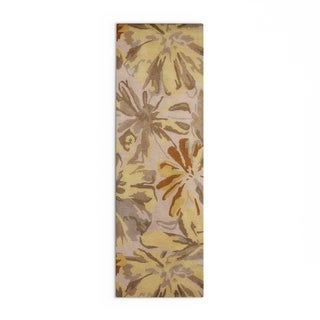 Hand-tufted Putty Wrigley Wool Area Rug (3 x 12 - Sepia/Graphite)