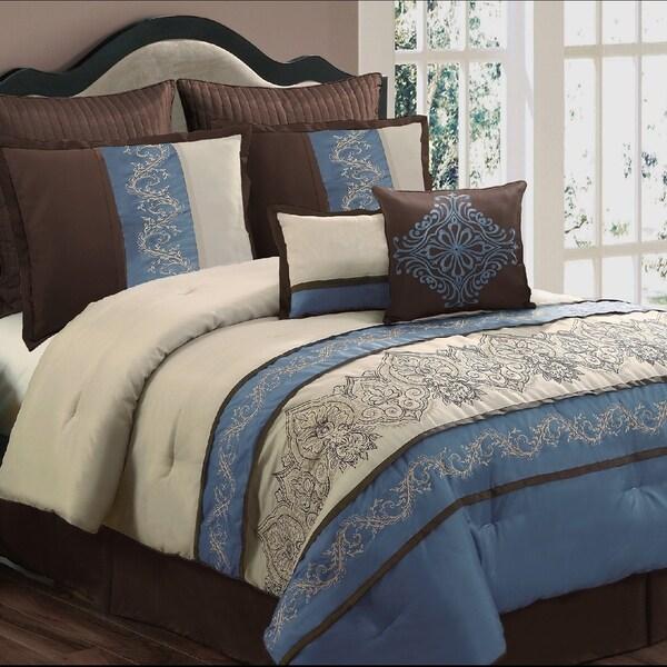 Sandra Blue 8-piece Comforter Set