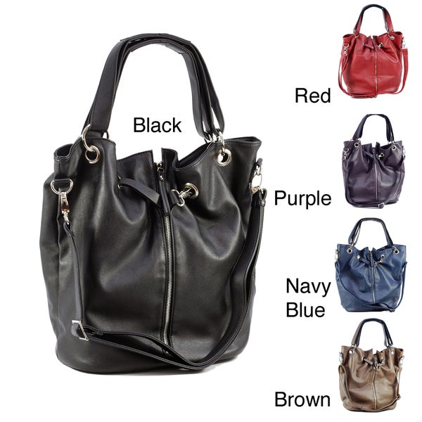 Dasein Tote Bag with Front Zipper Decoration