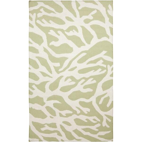 Handwoven Starion Lettuce Leaf Wool Rug (5' x 8')