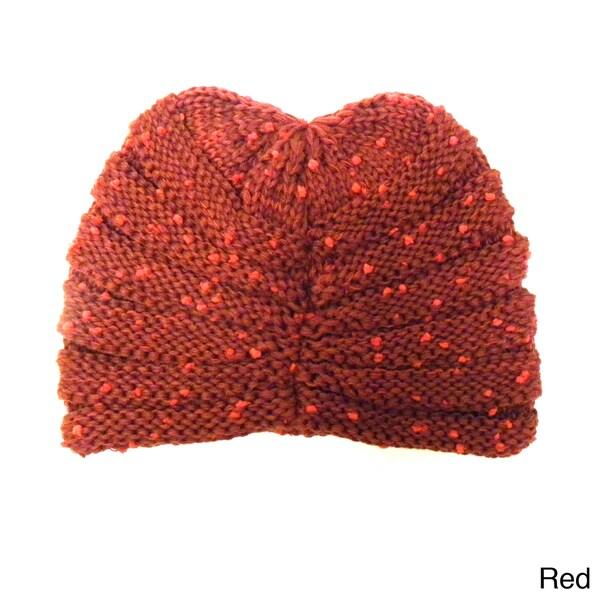 KC Signatures Women's Textured Knit Cap