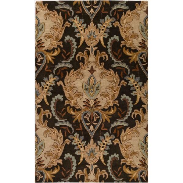 Hand-tufted Ram Golden Brown Wool Area Rug (9' x 13')