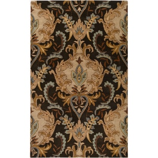 Hand-tufted Ram Golden Brown Wool Rug (9' x 13')