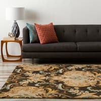 Hand-tufted Ram Golden Brown Wool Area Rug - 9' x 13'