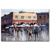 Ryan Radke 'Italian Marketplace' Canvas Art - Multi