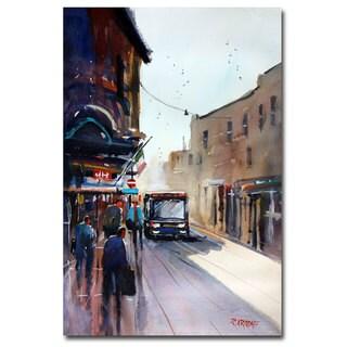 Ryan Radke 'Italian Bus Stop' Canvas Art