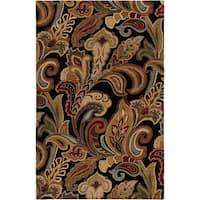 Hand-tufted Rampage Mocha Wool Area Rug - 9' x 13'