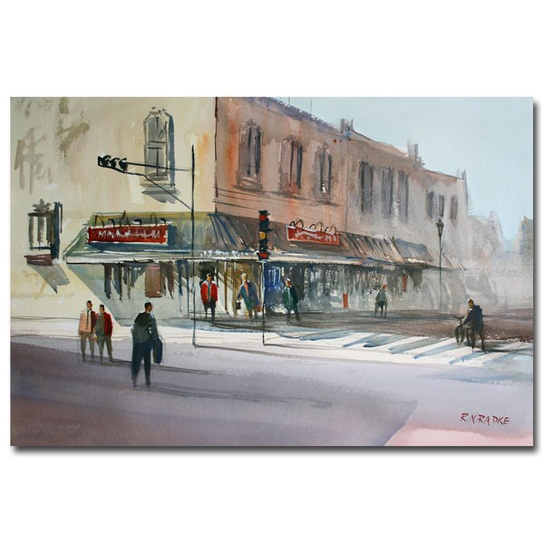 Ryan Radke 'Main Street Marketplace Waupaca' Canvas Art