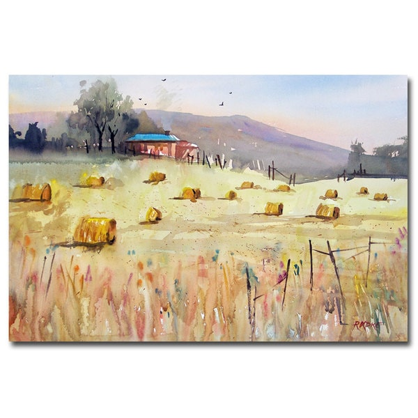 Ryan Radke 'Hay Bales' Canvas Art