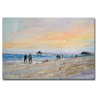 Ryan Radke 'Florida Sunset' Canvas Art - Multi
