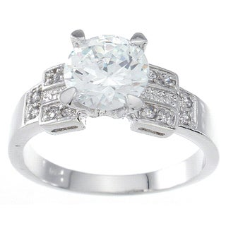 Sterling Silver Round-cut Cubic Zirconia Ring