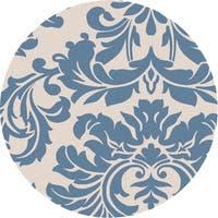 Hand-tufted Slate Blue Mondial Wool Area Rug - 9'9 x 9'9