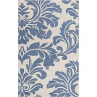 Hand-tufted Slate Blue Mondial Wool Area Rug - 9' x 12'