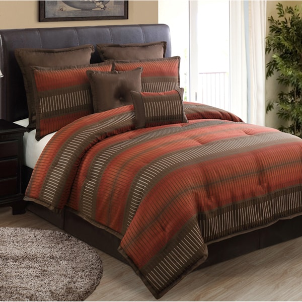 Shop Russell Rust 8 Piece Comforter Set Free Shipping